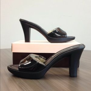 NWOT! BANDOLINO Patent Slide Heels, Black, 8M